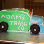 The Trash Truck Cake
