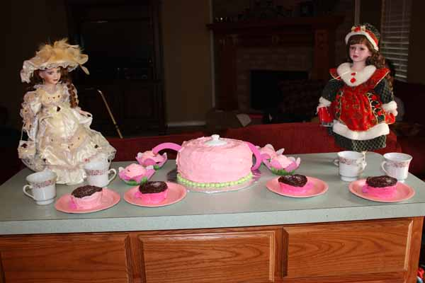 doll tea party decorations