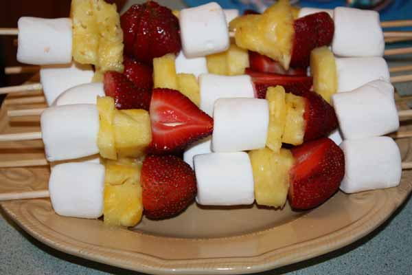 Fruit and Marshmallow Kabobs